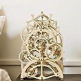 WarmHome Juguetes De Madera 3D Montados A Mano Péndulo Reloj Puzzle Adornos Manualidades DIY Regalos Creativos