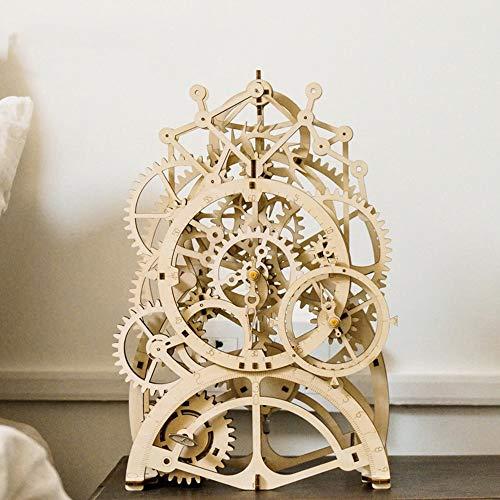 Hancoc Holzspielzeug 3D Handmontierte Pendeluhr Puzzle Ornamente Basteln DIY Kreative Geschenke