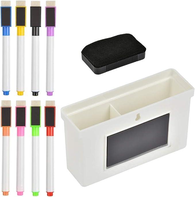 108 opinioni per Set di pennarelli per lavagna bianca YOTINO 10, include 8 pezzi di pennarelli