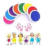 赤ちゃん 手形 足形キット 特大サイズ 指紋8色セット 3〜5労働日以内配達
