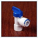 KHJK Mujer 1/4-3/8 Pulgadas de diámetro Exterior del Tubo de PE Instalación de tuberías de presión de la Manguera del Codo Filtro Barril válvula de Bola Acuario de Agua del RO de Osmosis Inversa