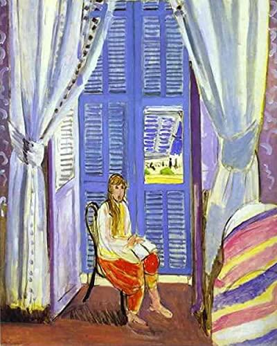 Diy 5d Diamond Painting Kit Para Adultos 5d Diamante Pintura Por NúMero Kit Completo Rhinestone Bordado Punto De Cruz Pintura De Diamante Henri Matisse la ventana francesa en Niza 30x40cm