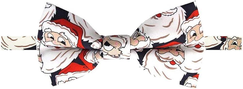 Jacob Alexander Boys' Jolly Santa Adjustable Pre-Tied Banded Bow Tie