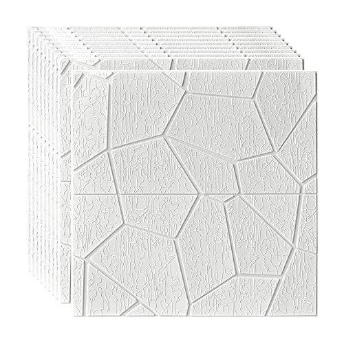 BROOE 3D Tridimensional, Papel Pintado Autoadhesivo Impermeable Dormitorio Balcón TV Fondo Paneles de Pared anticolisión, 60 × 60Cm, Tipo 7