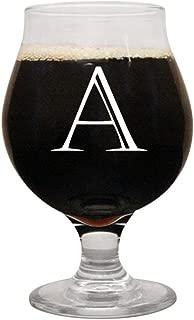 Personalized Belgian Beer Glass by Froolu Custom initial engraved Belgian Beer Glass