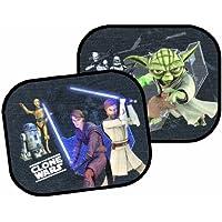 26010 Joy Toy Star Wars - Clone Wars cortinas desde el Sol a la máquina con ventosas, 2 piezas, 36x45 cm