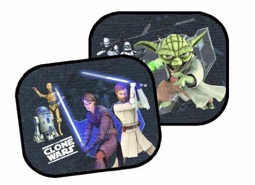 Lot de deux pare soleil Star Wars - Clone Wars pour vitres latérales à ventouses