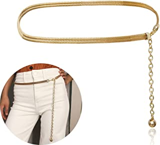 Alloy Waist Chain Body Chain for Women Waist Belt Pendant Belly Chain Adjustable Body Harness for Jeans Dresses – Gold Style 5