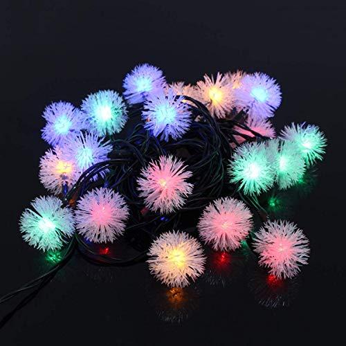 Cadena de luces LED lámpara Navidad fiesta decoración 5M 20 LED energía solar bola nieve hadas cadena luz jardín al aire libre (color: multicolor) con (color: multicolor) SKYJIE (color: multicolor)