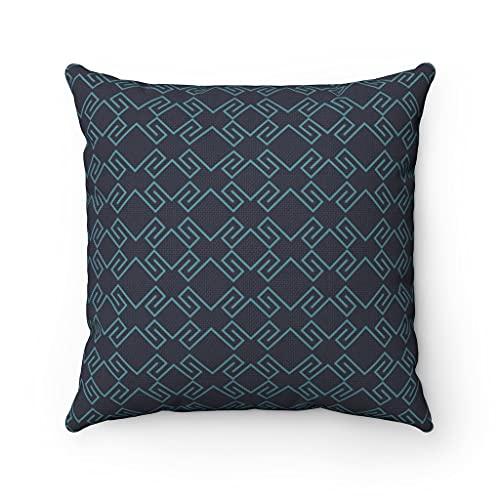 Fundas de almohada y almohada con estampado geométrico azul, fundas de almohada con cierre de cremallera oculto, para sofá, banco, cama, decoración del hogar, 60 x 60 cm