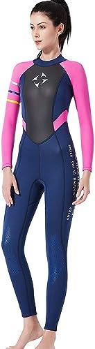 BUY-TO Lady Wetsuit 3mm manche longue Diving Suit Super Stretch, pour Tous Les Sports Nautiques Femmes pour Le Surf plongée sous-Marine