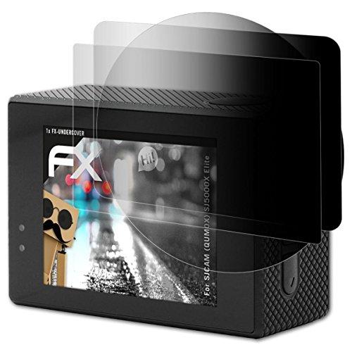 atFoliX Filtro de Privacidad Compatible con SJCAM (QUMOX) SJ5000X Elite Película de Privacidad, 4 vías privacidad FX Protector de Pantalla Privacidad (Set de 1)