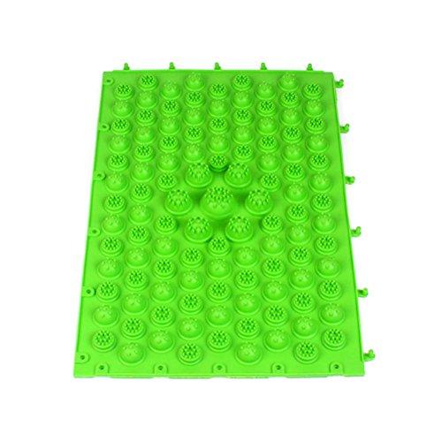 ROSENICE Tappetino massaggio piedi Tappetino riflessologia digitopressione (Verde)