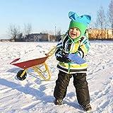 HAPPYGRILL Kids Wheelbarrow, Yard Rover Steel Tray, Metal Construction...