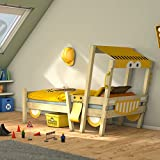 Wickey Car bed CrAzY Sparky Children's bed 90x200cm excavator with slatted bed base
