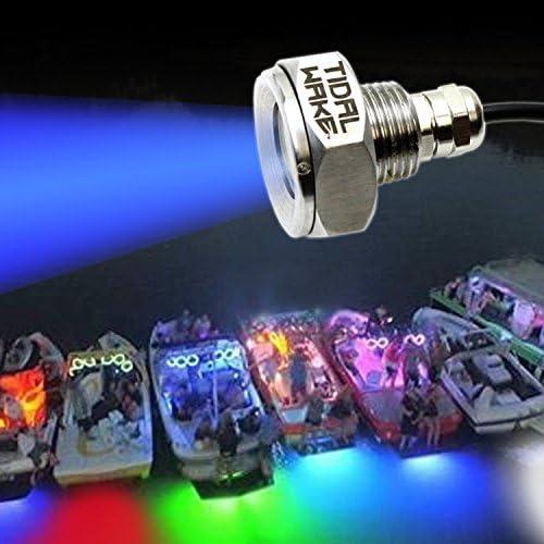 Tidal Wake IP68 gift Underwater Award-winning store 1 2in Plug Drain Standard Li LED Boat