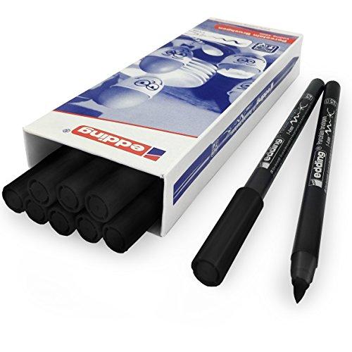 Edding 4200 Porzellan-Pinselstift, 1-4 mm, 10 Stück, Schwarz #1