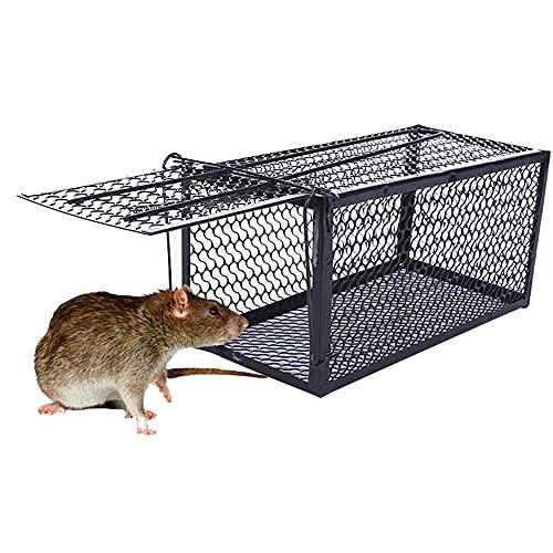 ThreeH Ratonera Humana Ratones Catcher Trampa para Ratas Control de plagas ratón hierro jaula trampa MT01