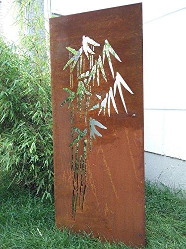 Zen Man Edelrost Garten Sichtschutz aus Metall Rost Gartenzaun Gartendeko edelrost Sichtschutzwand H180*75cm 031664-6