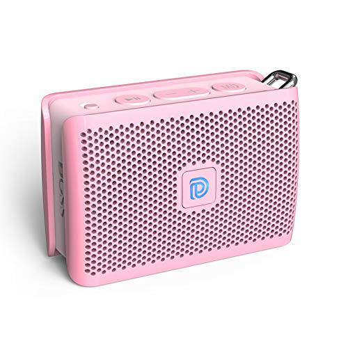 DOSS Genie Portable Bluetooth Speaker with Clean Sound, Built-in Mic, Ultra-Portable Design, Wireless Speaker Compatible for Home, Outdoors, Travel, Gift Ideas- Pink