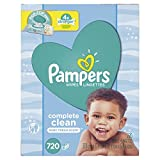 Baby Wipes, Pampers Baby Diaper Wipes, Complete Clean Scented, 10X Pop-Top Packs, 720 Total Wipes