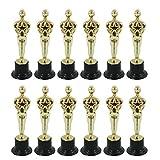 geneic Juego de 12 moldes para estatuillas de Oscar premia a los ganadores magníficos trofeos en ceremonias y herramientas de decoración de tartas festivas.