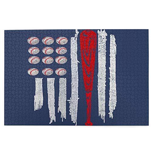 goodsaleA Rompecabezas de 1000 Piezas,Rompecabezas de imágenes,Bandera Bola de Boliche Azul Juguetes Puzzle for Adultos niños Interesante Juego Juguete Decoración para El Hogar