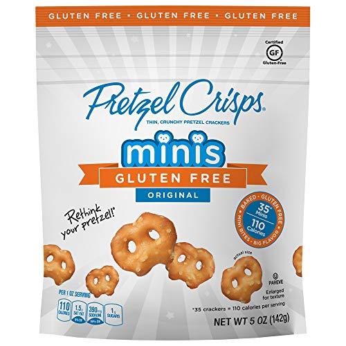 Snack Factory Pretzel Crisps, Gluten Free Original Minis, 5 Ounce (Pack of 12)