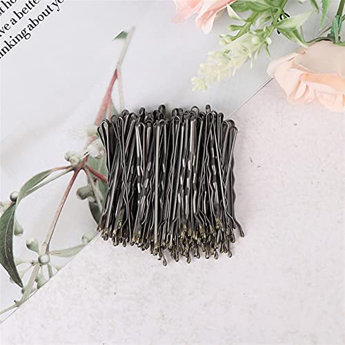 Prachtige haarspeld 100 stks Bruiloft Haar Clips Barrette Haarspelden Zwarte Side Wire Folder Styling Tools Stijlvol en mooi (Color : Silver)
