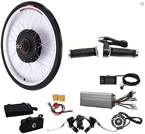 WUPYI2018 Kit de conversión para bicicleta eléctrica de 28 pulgadas (48 V, 1000 W)