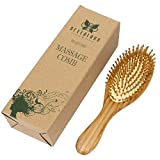 Neverland Beauty 1pc Natural Bamboo Wooden Massage Hair Brush Comb for All Hair Types Improve Hair Growth, Prevent Hair Loss