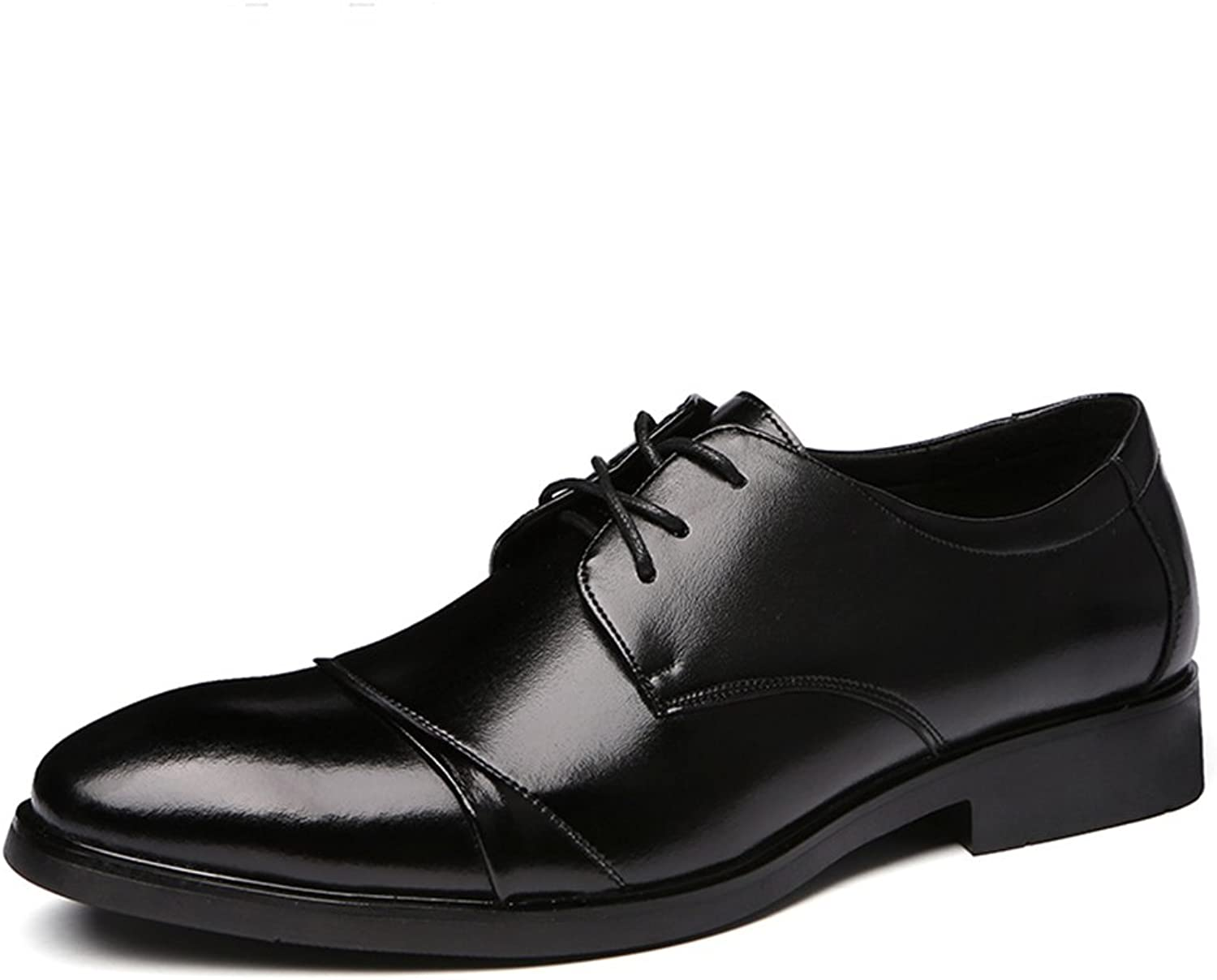 Men's Genuine Leather Formal Modern Classic Calfskin Lace Up Leather Lined Oxford Dress shoes ( Size   6.5 D(M)US )