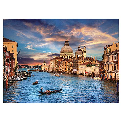 """Grand Canal, Venice Italy by Wuundentoy Puzzles for Adults, 500 Piece Kids Jigsaw Puzzles Game Toys Gift for Children Boys and Girls, 15"""" x 20"""""""