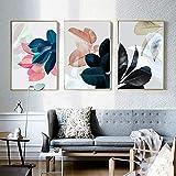 yiyitop Poster Pflanze Blatt Bild Kunstdruck Wand Wohnzimmer Wandkunst Leinwand Gemälde Poster ohne Rahmen