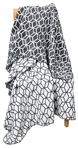 MOON 3D Luxus Kuscheldecke Wolldecke 150x200-anthrazit