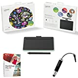 Wacom CTL4100 Intuos Creative Pen Small Green Wireless Bluetooth Tablet Bundle with Corel Paint Shop Pro 2018 Digital Download Card