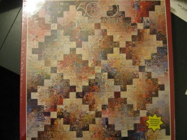 F.X.Schmid 600 Puzzle, Log Cabin Colourwash Quilt by Exquisit Puzzle