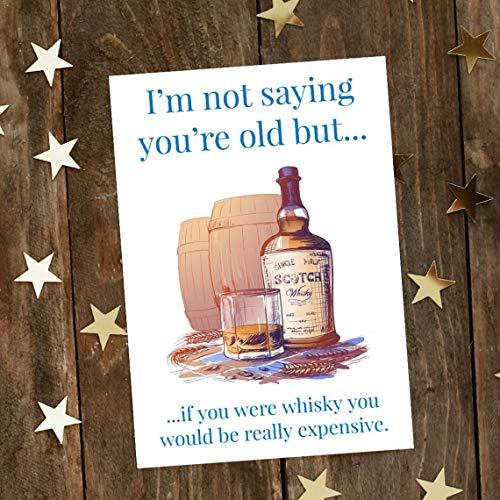 Lustige freche Geburtstagskarte – teuer Whisky