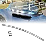 H-Ruo Chrome Slotted Batwing Fairing Windshield Trim Motorcycle Windscreen Trim Kit for Harley Electra Glide Street Glide 1996-2013