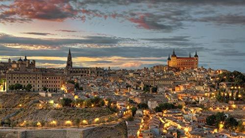 Rompecabezas 1000 Piezas Paisaje De Toledo España Decoración del Hogar para Niño Adulto 1000 Piezas