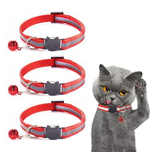 Katzenhalsband Reflektierendes 3 Stück Anhänger mit...