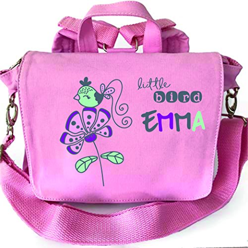 2in1 Kindergartenrucksack mit Namen, Kindergartentasche mit Namen, Kinderrucksack, Rucksack Kinder, personalisieren und bedrucken, Blumen