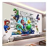 Juegos Super Mario Bros 3D View Art Pegatinas de pared Calcomanías Mural Decoración para el hogar Pegatinas de pared 50x70cm