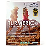 Turmeric+ | Turmeric Tablets from FutureYou | 28 Easily Absorbed Tablets | Highly Bioavailable Formulation | 500mg Curcuma Phospholipid Complex | Meriva Advanced Turmeric Formulation