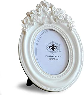 Giftgarden 2.5x3.5 Oval Picture Frame White Frames Wedding Gifts, Valentines Gifts, Love Gifts, Mother Gifts for 2.5 by 3.5 Inch Photo Display