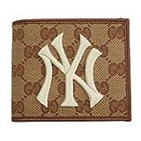 GUCCI(グッチ)二つ折り札入れ 財布 New York Yankees パッチ GGキャンバス 547787 9Y9ET 9573 [並行輸入品]