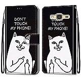nancencen Coque Portefeuille Compatible avec Samsung Galaxy J3 2015 / J3 2016 / SM-J310, Flip Étui...