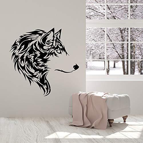 Jsnzff Estilo de Dibujos Animados Lobo Tatuajes de Pared habitación de los niños decoración del hogar Sala de Estar decoración del hogar calcomanía de Vinilo 57x57 cm