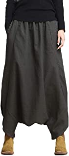 2018 Cotton Linen Loose Fashion Women's Harem Pants Yoga Festival Baggy Boho Trousers Retro Gypsy Pants