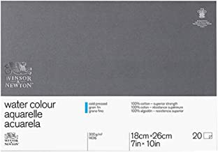"Winsor & Newton Water Colour Paper Professional Block, 7""x10"""